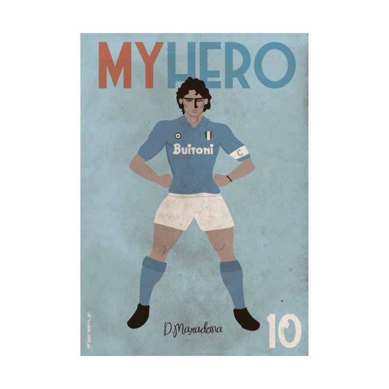 Maradona My Hero Vintage Edition Men's Zip-Up Hoody by ZEROSTILE'S ARTIST SHOP