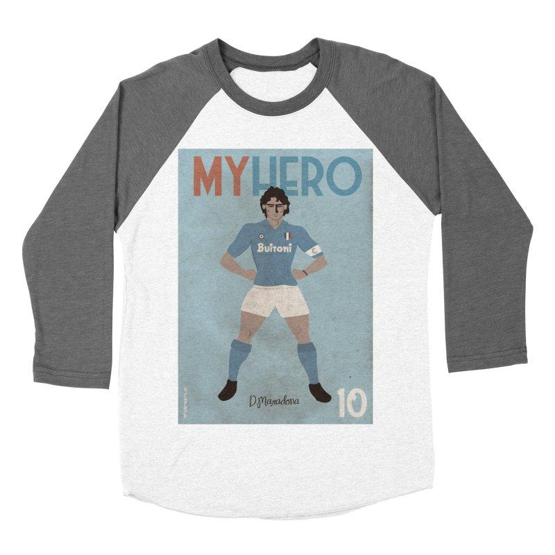 Maradona My Hero Vintage Edition Women's Baseball Triblend T-Shirt by ZEROSTILE'S ARTIST SHOP