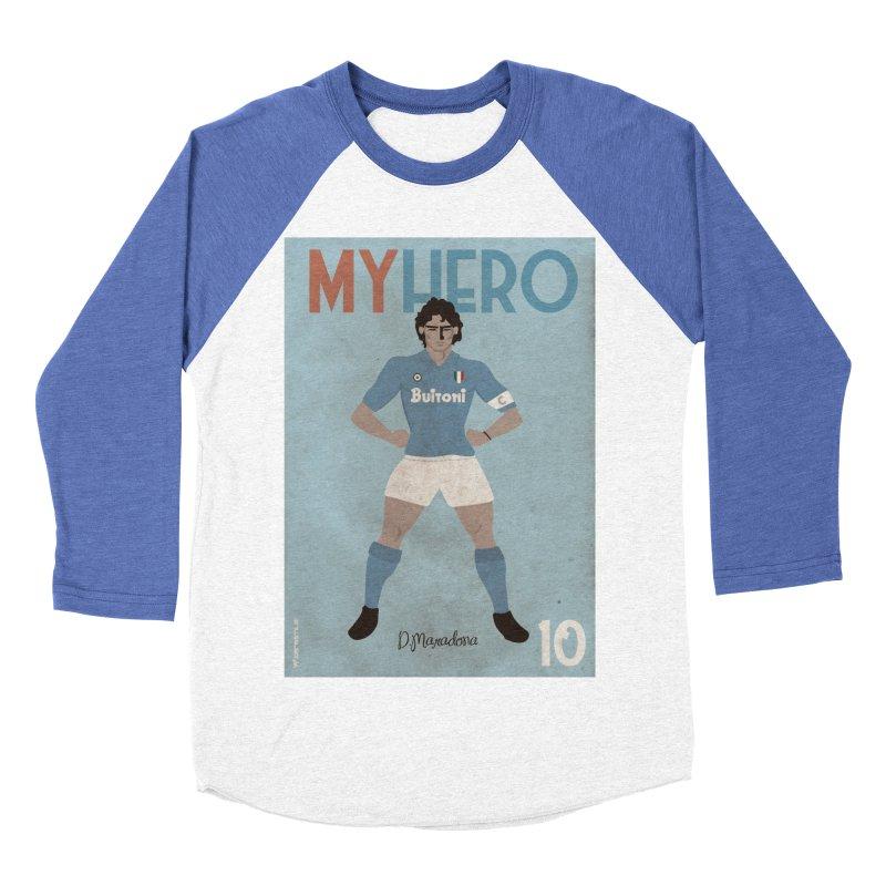 Maradona My Hero Vintage Edition Men's Baseball Triblend T-Shirt by ZEROSTILE'S ARTIST SHOP