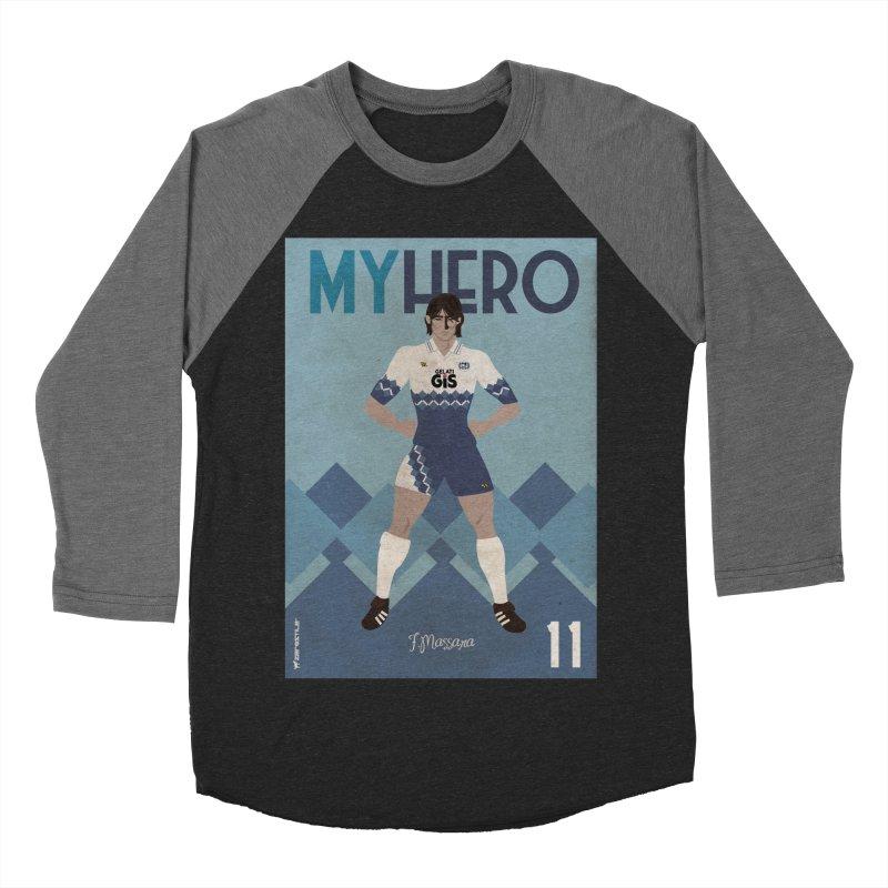 Massara My Hero Vintage Edition Men's Baseball Triblend T-Shirt by ZEROSTILE'S ARTIST SHOP