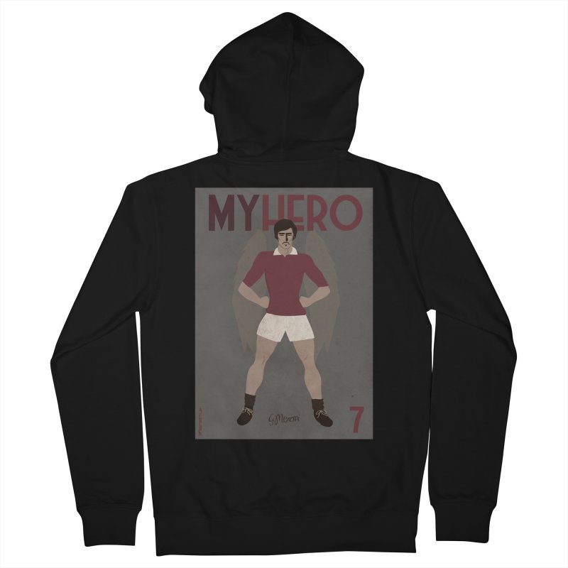 Meroni My Hero Vintage Edition Men's Zip-Up Hoody by ZEROSTILE'S ARTIST SHOP