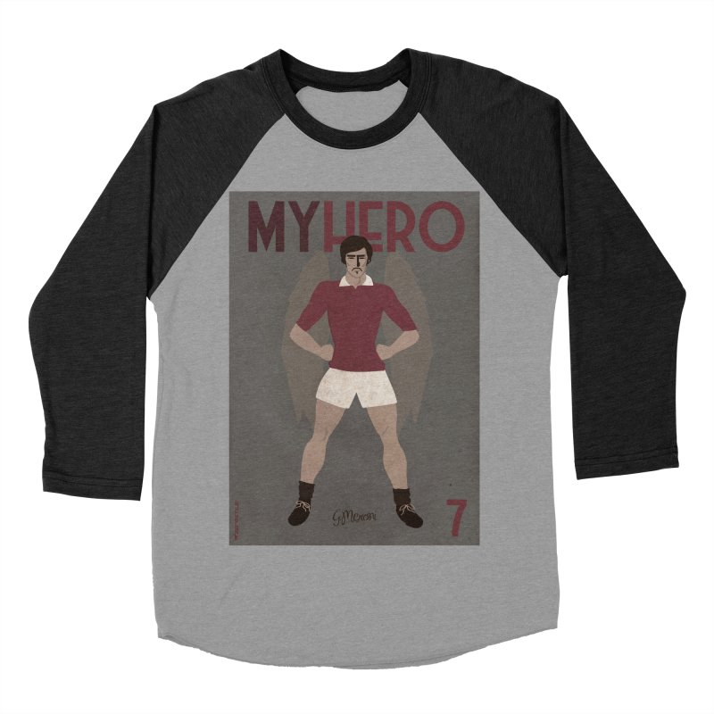 Meroni My Hero Vintage Edition Men's Baseball Triblend T-Shirt by ZEROSTILE'S ARTIST SHOP