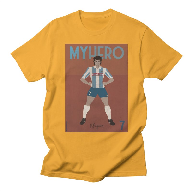 Pagano My Hero Vintage Edition in Men's T-shirt Gold by ZEROSTILE'S ARTIST SHOP