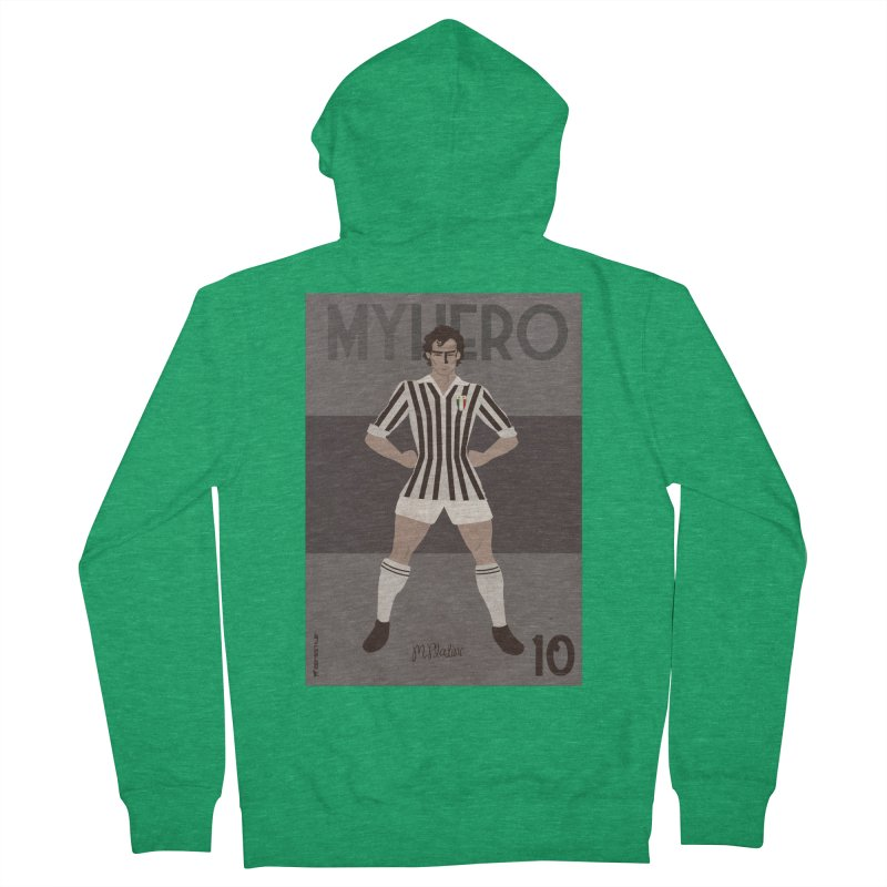 Platini My Hero Vintage Edition Women's Zip-Up Hoody by ZEROSTILE'S ARTIST SHOP