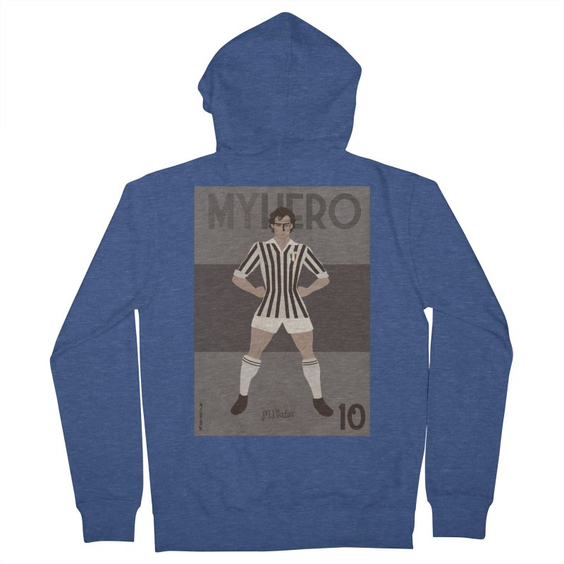 Platini My Hero Vintage Edition Men's Zip-Up Hoody by ZEROSTILE'S ARTIST SHOP