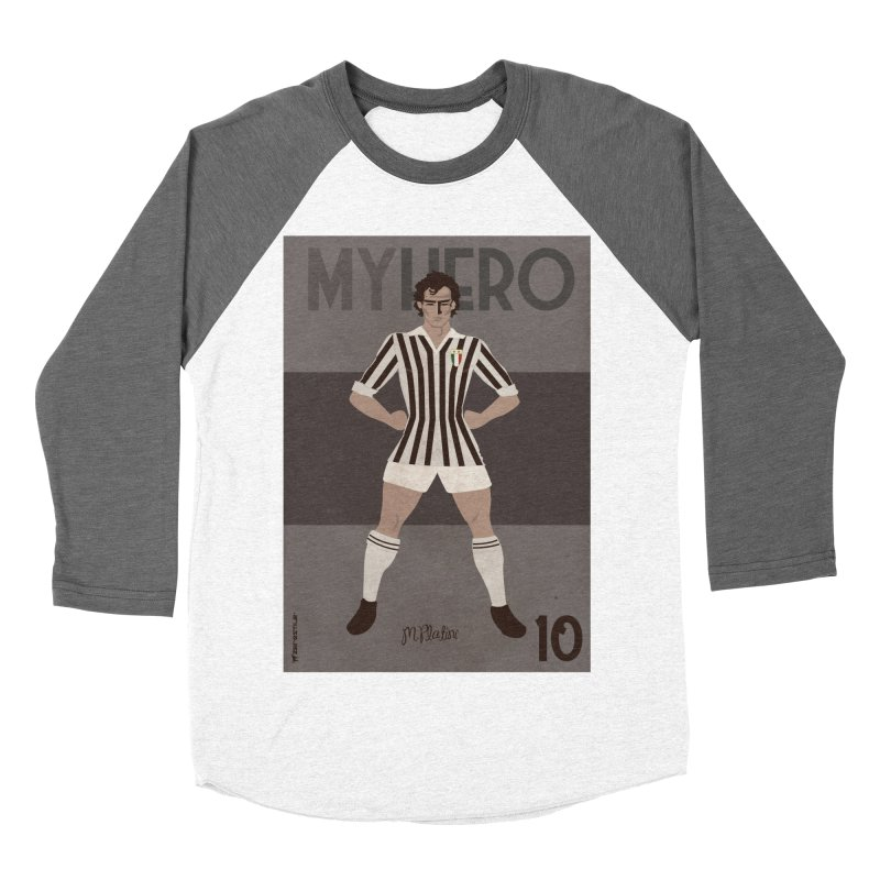 Platini My Hero Vintage Edition Women's Baseball Triblend T-Shirt by ZEROSTILE'S ARTIST SHOP