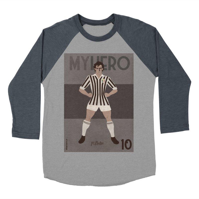 Platini My Hero Vintage Edition Men's Baseball Triblend T-Shirt by ZEROSTILE'S ARTIST SHOP