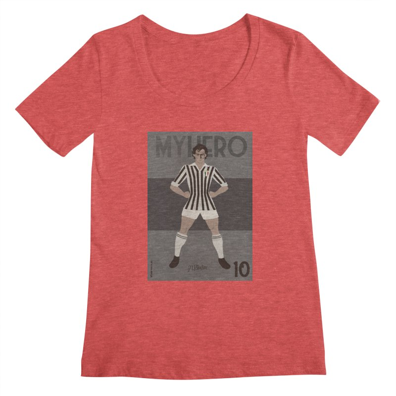 Platini My Hero Vintage Edition Women's Scoopneck by ZEROSTILE'S ARTIST SHOP