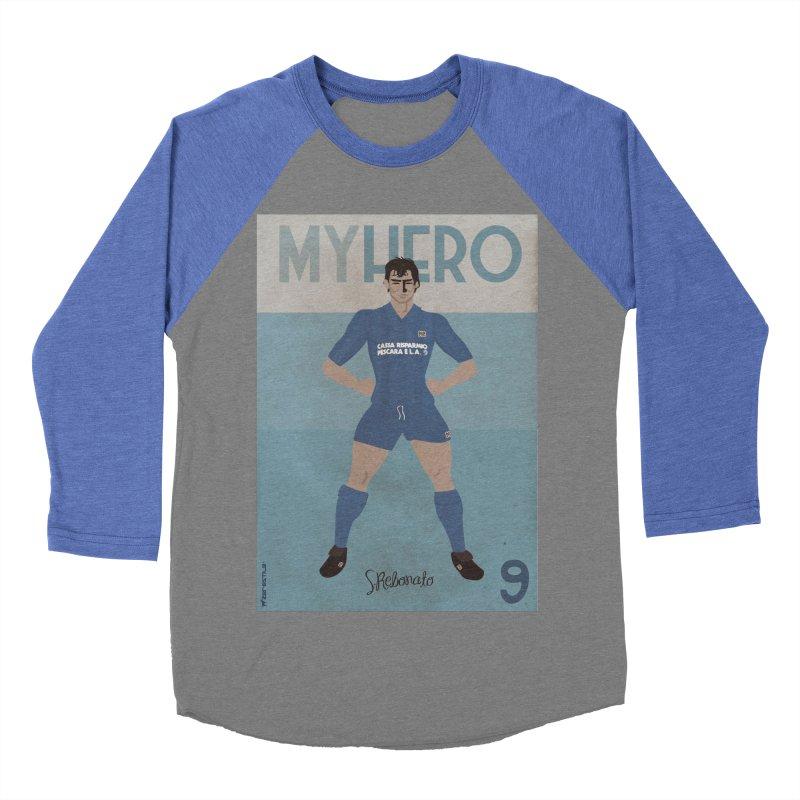 Rebonato My Hero Vintage Edition Men's Baseball Triblend T-Shirt by ZEROSTILE'S ARTIST SHOP