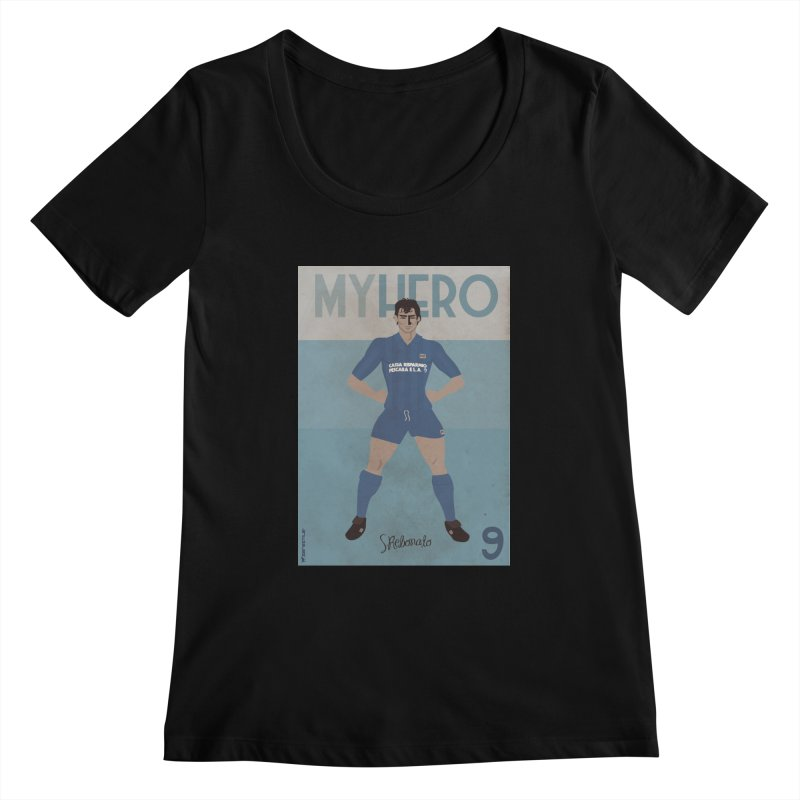 Rebonato My Hero Vintage Edition Women's Scoopneck by ZEROSTILE'S ARTIST SHOP