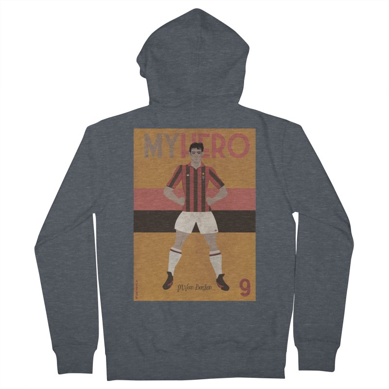 Van Basten My Hero Vintage Edition Women's Zip-Up Hoody by ZEROSTILE'S ARTIST SHOP