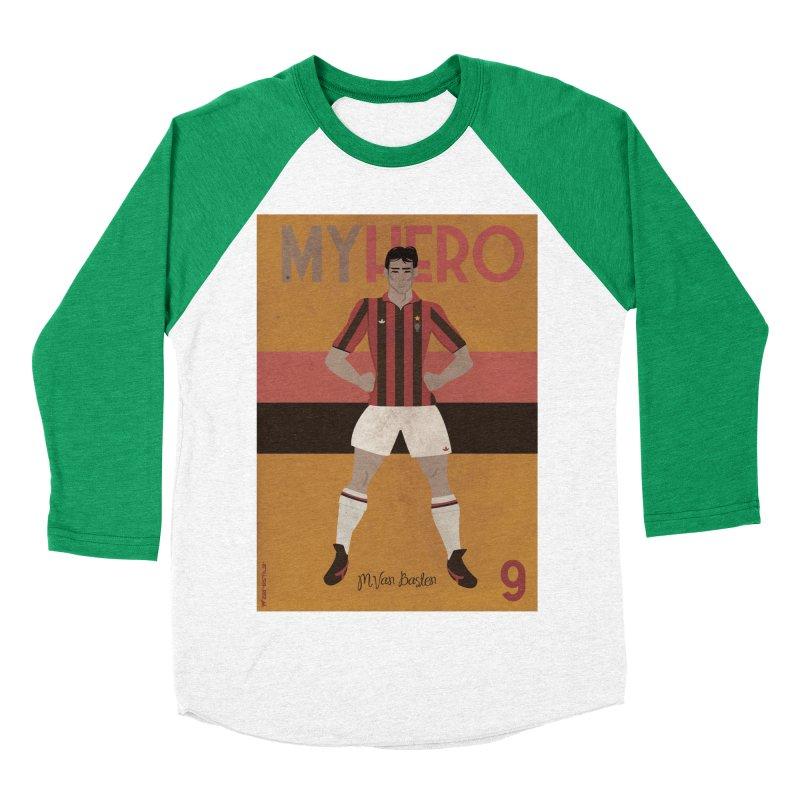 Van Basten My Hero Vintage Edition Men's Baseball Triblend T-Shirt by ZEROSTILE'S ARTIST SHOP