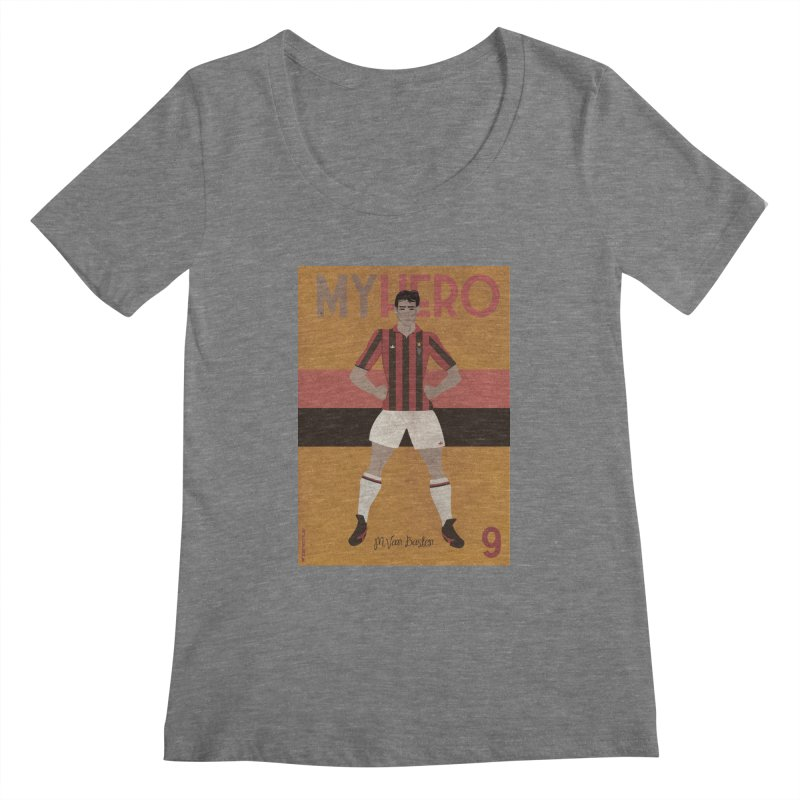 Van Basten My Hero Vintage Edition Women's Scoopneck by ZEROSTILE'S ARTIST SHOP