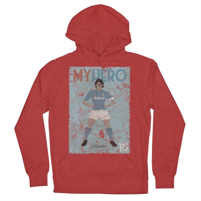 Maradona My Hero Grunge Edt Women's Pullover Hoody by ZEROSTILE'S ARTIST SHOP