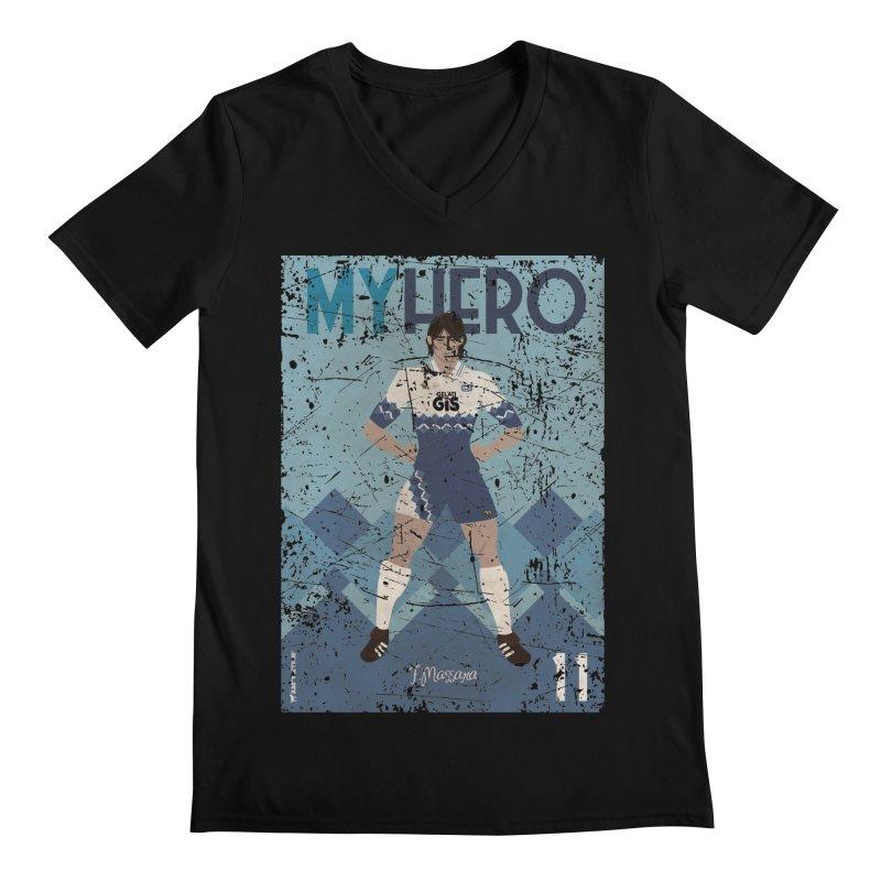 Massara My Hero Grunge Edt Men's V-Neck by ZEROSTILE'S ARTIST SHOP