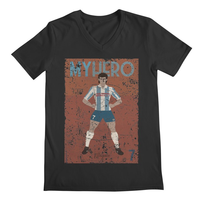 Pagano My Hero Grunge Edt Men's V-Neck by ZEROSTILE'S ARTIST SHOP