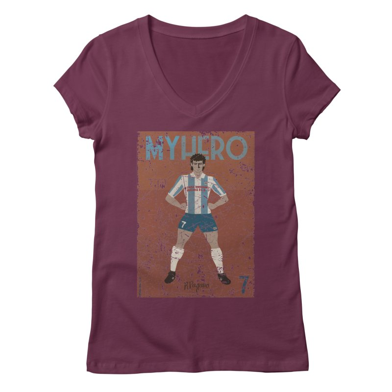 Pagano My Hero Grunge Edt Women's V-Neck by ZEROSTILE'S ARTIST SHOP