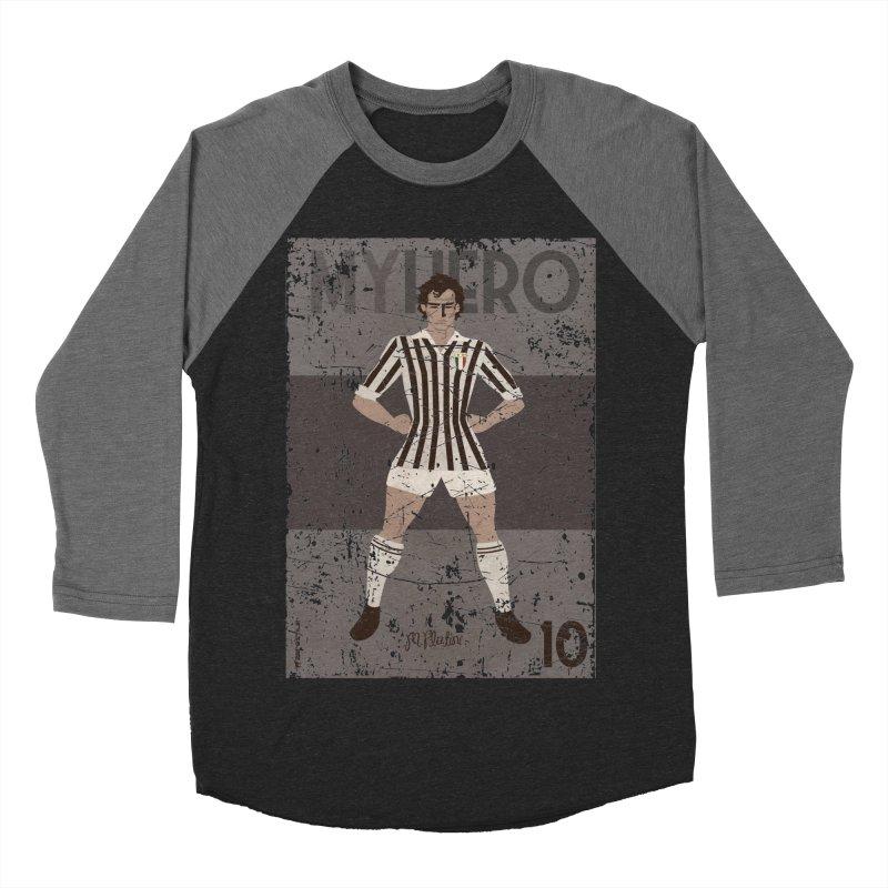 Platini My Hero Grunge Edition Women's Baseball Triblend T-Shirt by ZEROSTILE'S ARTIST SHOP