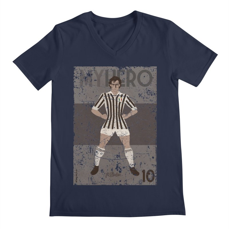 Platini My Hero Grunge Edition Men's V-Neck by ZEROSTILE'S ARTIST SHOP