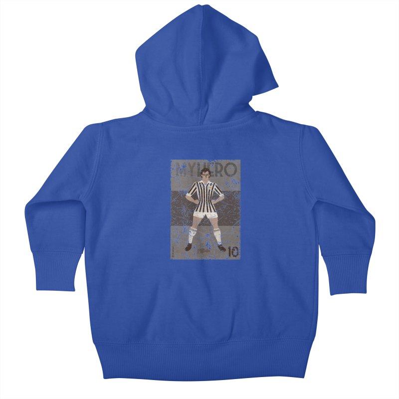 Platini My Hero Grunge Edition Kids Baby Zip-Up Hoody by ZEROSTILE'S ARTIST SHOP