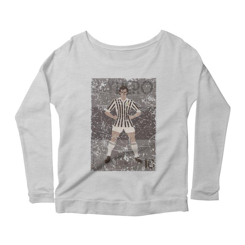Platini My Hero Grunge Edition Women's Longsleeve Scoopneck  by ZEROSTILE'S ARTIST SHOP