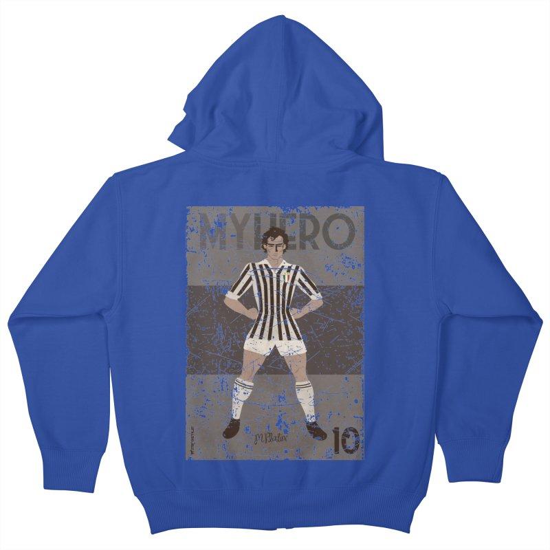 Platini My Hero Grunge Edition Kids Zip-Up Hoody by ZEROSTILE'S ARTIST SHOP