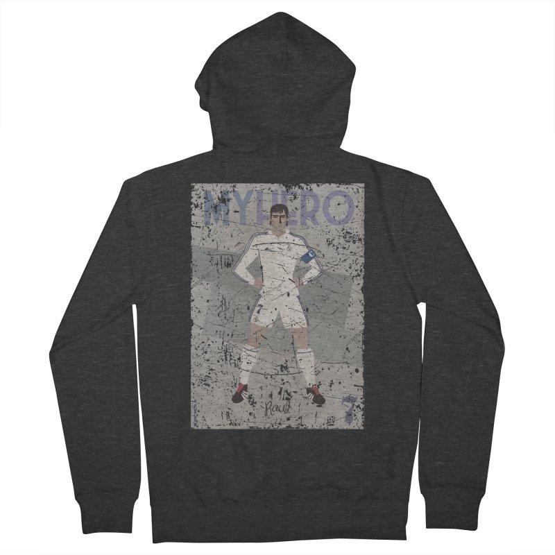 Raul My Hero Grunge Edt Men's Zip-Up Hoody by ZEROSTILE'S ARTIST SHOP