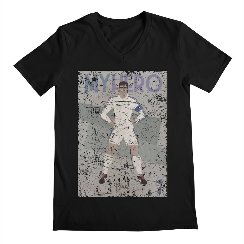 Raul My Hero Grunge Edt Men's V-Neck by ZEROSTILE'S ARTIST SHOP