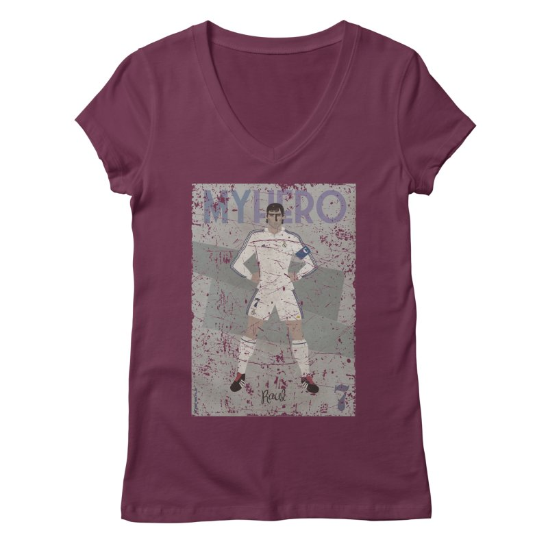 Raul My Hero Grunge Edt Women's V-Neck by ZEROSTILE'S ARTIST SHOP
