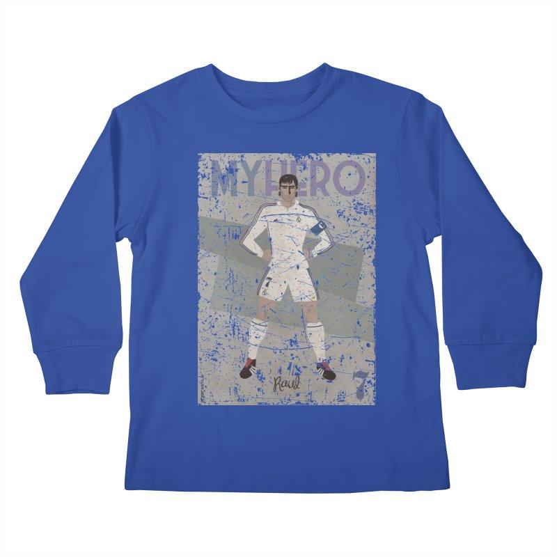 Raul My Hero Grunge Edt Kids Longsleeve T-Shirt by ZEROSTILE'S ARTIST SHOP