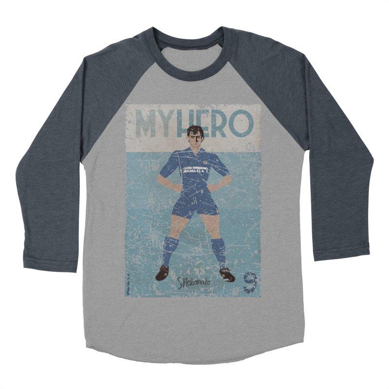 Rebonato My Hero Grunge Edt Men's Baseball Triblend T-Shirt by ZEROSTILE'S ARTIST SHOP