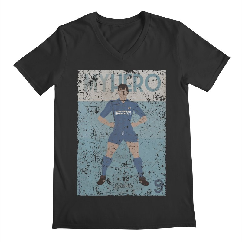 Rebonato My Hero Grunge Edt Men's V-Neck by ZEROSTILE'S ARTIST SHOP