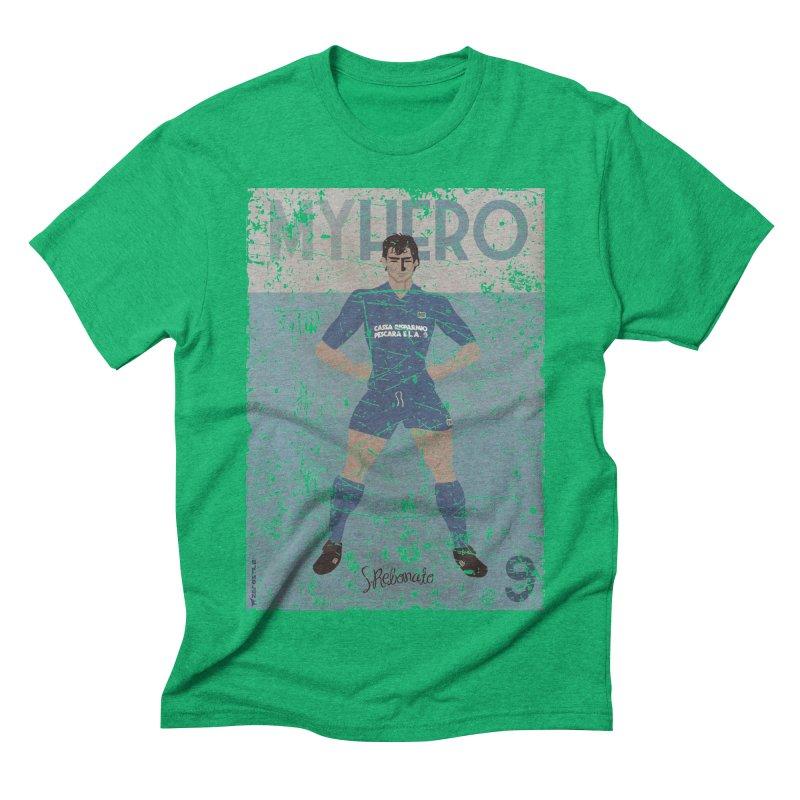 Rebonato My Hero Grunge Edt Men's Triblend T-shirt by ZEROSTILE'S ARTIST SHOP