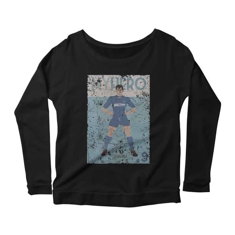 Rebonato My Hero Grunge Edt Women's Longsleeve Scoopneck  by ZEROSTILE'S ARTIST SHOP