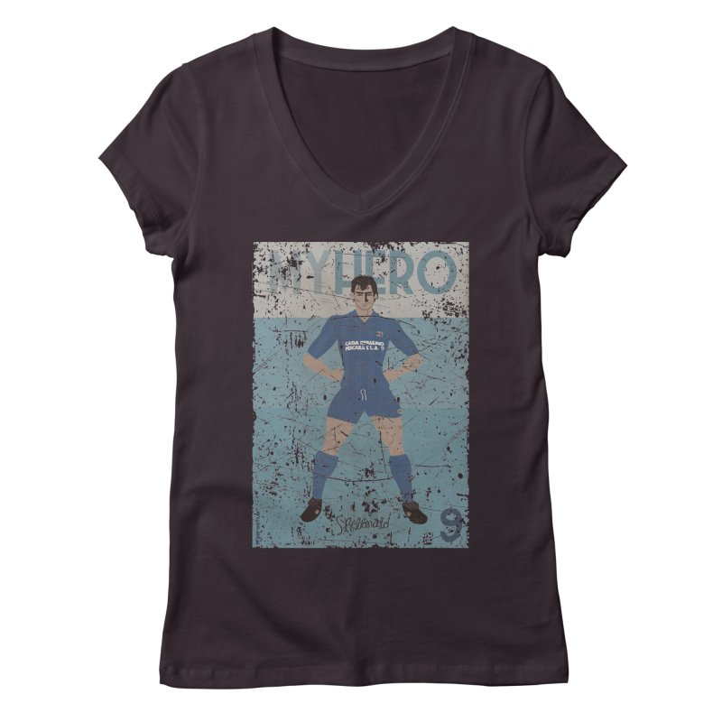Rebonato My Hero Grunge Edt Women's V-Neck by ZEROSTILE'S ARTIST SHOP
