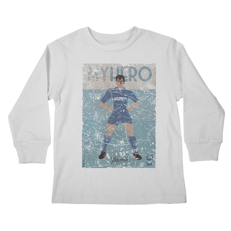 Rebonato My Hero Grunge Edt Kids Longsleeve T-Shirt by ZEROSTILE'S ARTIST SHOP