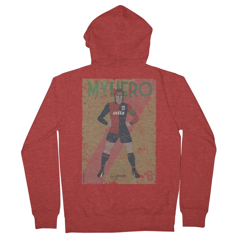 Signorini My Hero Grunge Edt Women's Zip-Up Hoody by ZEROSTILE'S ARTIST SHOP