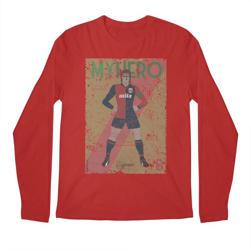 Signorini My Hero Grunge Edt Men's Longsleeve T-Shirt by ZEROSTILE'S ARTIST SHOP