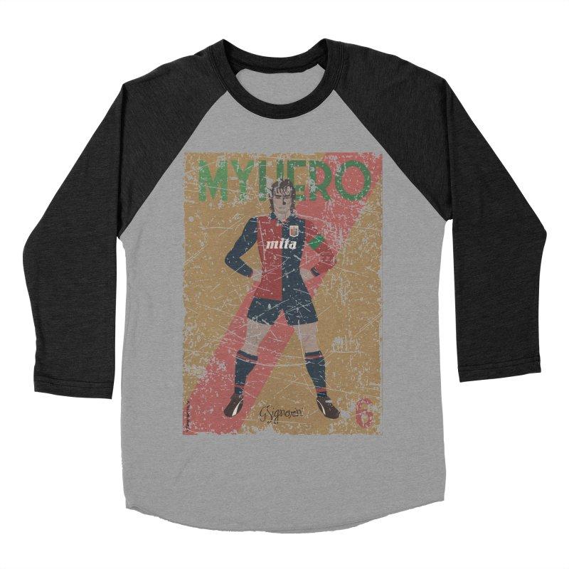 Signorini My Hero Grunge Edt Women's Baseball Triblend T-Shirt by ZEROSTILE'S ARTIST SHOP