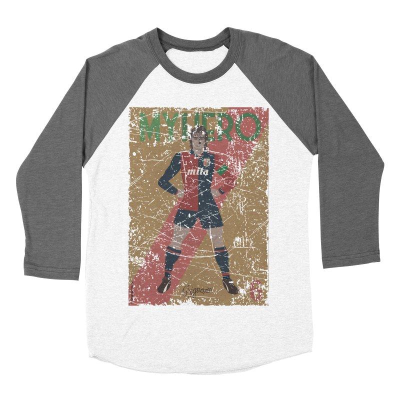 Signorini My Hero Grunge Edt Men's Baseball Triblend T-Shirt by ZEROSTILE'S ARTIST SHOP