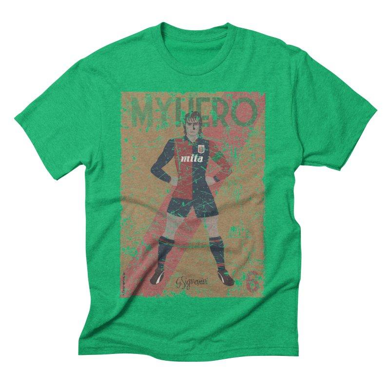 Signorini My Hero Grunge Edt Men's Triblend T-shirt by ZEROSTILE'S ARTIST SHOP