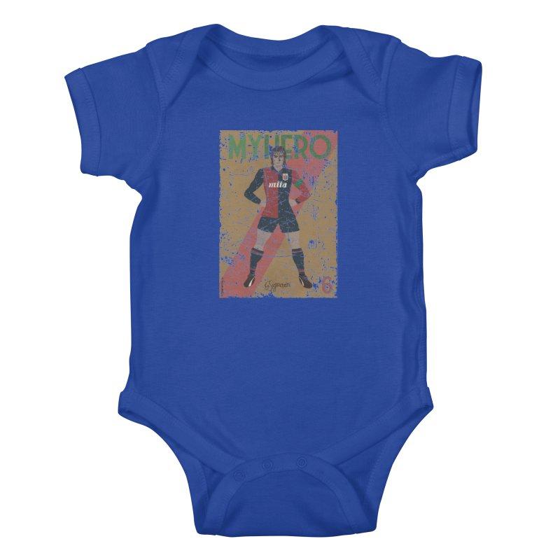 Signorini My Hero Grunge Edt Kids Baby Bodysuit by ZEROSTILE'S ARTIST SHOP