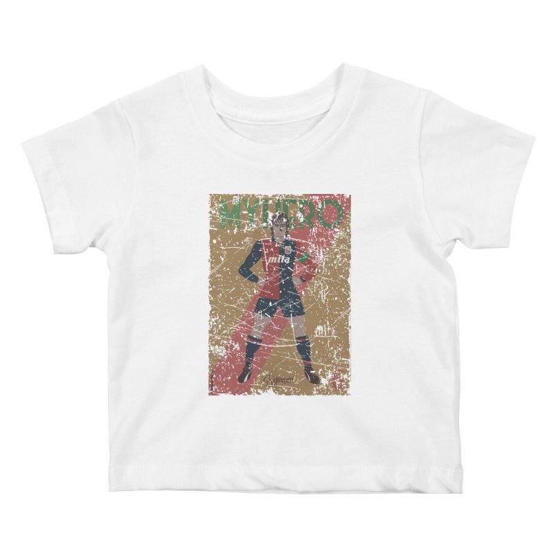 Signorini My Hero Grunge Edt Kids Baby T-Shirt by ZEROSTILE'S ARTIST SHOP