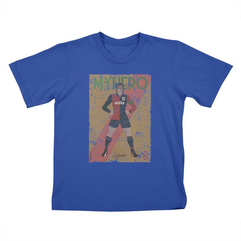 Signorini My Hero Grunge Edt Kids T-shirt by ZEROSTILE'S ARTIST SHOP