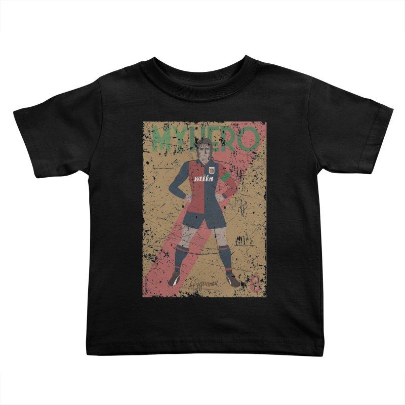 Signorini My Hero Grunge Edt Kids Toddler T-Shirt by ZEROSTILE'S ARTIST SHOP