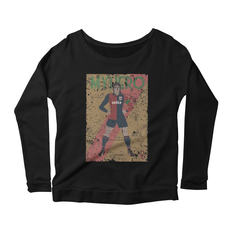 Signorini My Hero Grunge Edt Women's Longsleeve Scoopneck  by ZEROSTILE'S ARTIST SHOP