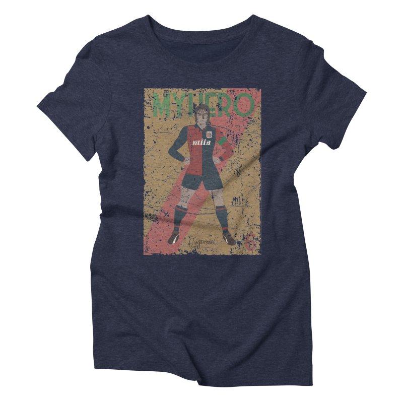 Signorini My Hero Grunge Edt Women's Triblend T-shirt by ZEROSTILE'S ARTIST SHOP