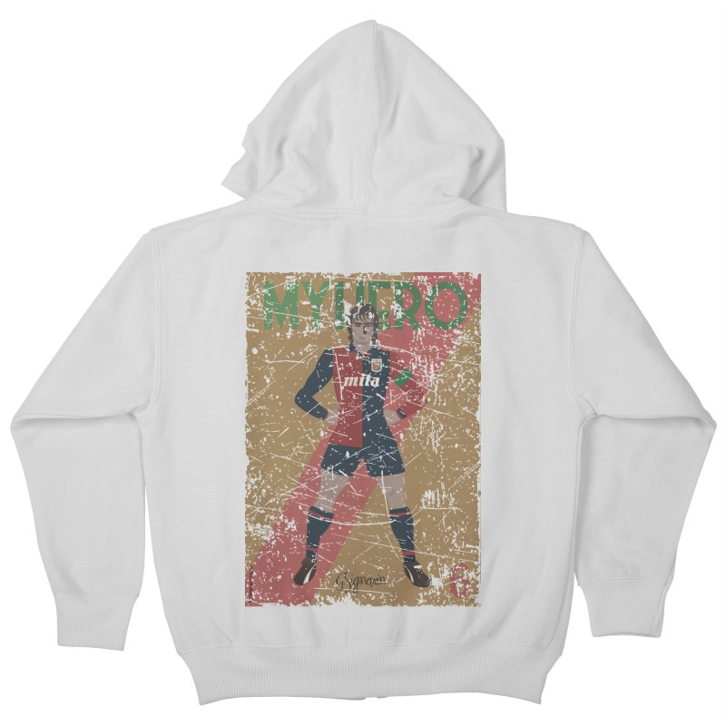 Signorini My Hero Grunge Edt Kids Zip-Up Hoody by ZEROSTILE'S ARTIST SHOP
