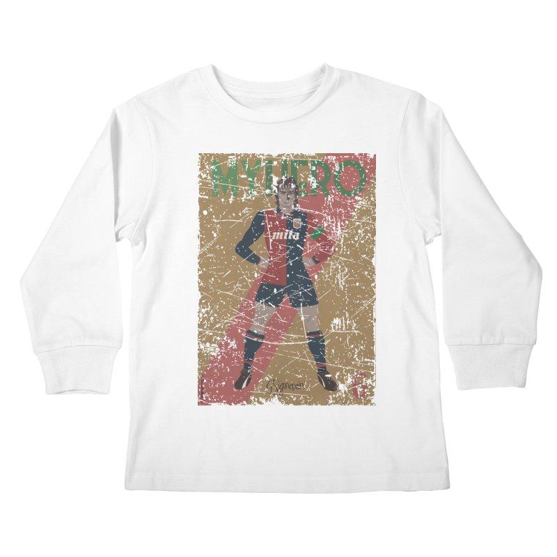 Signorini My Hero Grunge Edt Kids Longsleeve T-Shirt by ZEROSTILE'S ARTIST SHOP