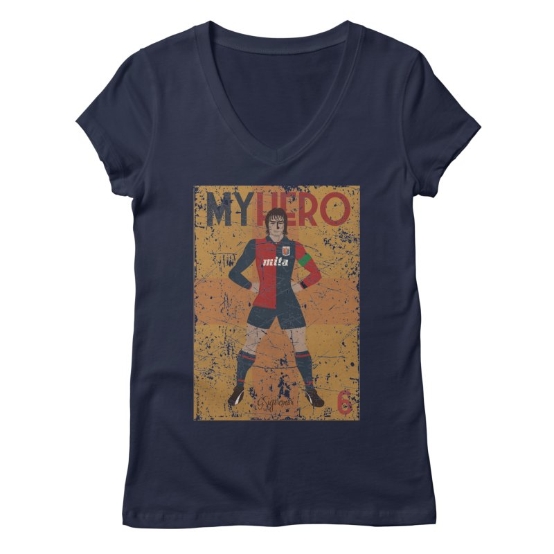 Signorini My Hero Grunge Edt Women's V-Neck by ZEROSTILE'S ARTIST SHOP